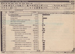 I2mZDDIII Enter task durations in the Gantt Chart view.
