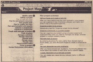 The Project Map outlines how to create and manage a project