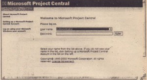 Microsoft project managemnet