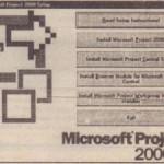Starting Microsoft Project Central Server Setup