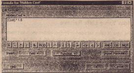 The Formula dialog box