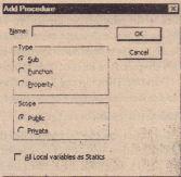 Use the Add Procedure