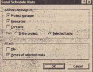 You can send a schedule