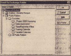 send to a exchange folder